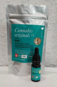 Olejek CBD Cannabis originals Raw CO2 5% 10 ml - GENERAL HEMP