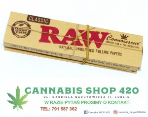 Bletki z gotowymi filtrami - Connoisseur King  Size with Pre-rolled Tips - RAW