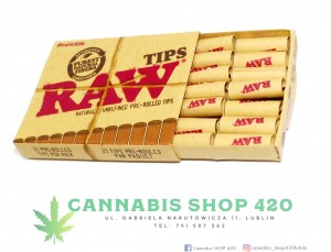 Gotowe filtry - Pre-rolled tips 21szt. - RAW